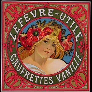 Poster Advertising 'Lefevre-Utile Gauffrettes Vanille', 1897 by Alphonse Mucha