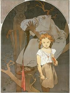 Poster Advertising the Lottery of the Union of South-West Moravia, 1912 by Alphonse Mucha