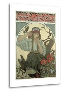 Poster Advertising the Moravian Teachers' Choir, 1911 by Alphonse Mucha