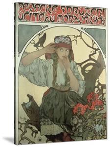 Poster Advertising the Moravian Teachers' Choir, 1911 by Alphonse Mucha