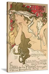 Poster Advertising the Salon Des Cent Exposition at the Hall De La Plume, 1896 by Alphonse Mucha