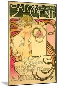 Poster Advertising the 'Salon Des Cent' Mucha Exhibition, 1897 by Alphonse Mucha