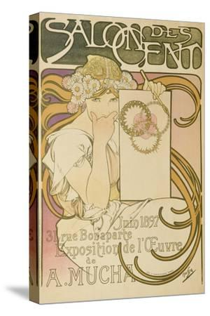 Poster Advertising the 'Salon Des Cent' Mucha Exhibition, 1897