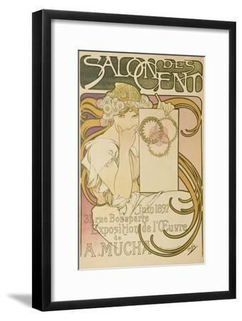 Poster Advertising the 'Salon Des Cent' Mucha Exhibition, 1897