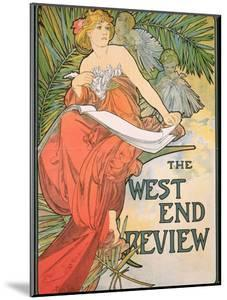 Poster Advertising 'The West End Review', 1898 by Alphonse Mucha