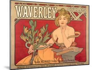 Poster Advertising 'Waverley Cycles', 1898 by Alphonse Mucha