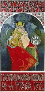 Poster for the 6th Meeting of the Czech Sokol-Union, Prague 1912 by Alphonse Mucha