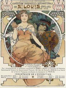 Poster for the World Fair, St, Louis, 1903