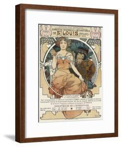 Poster for the World Fair, St, Louis, 1903 by Alphonse Mucha