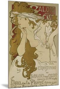 Poster for the Xv. Exhibition of Salon des Cent 1896 by Alphonse Mucha