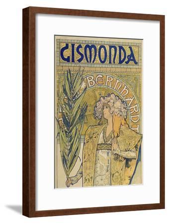 Poster: Sarah Bernhardt as Gismonda at the Theatre De La Renaissance (Upper Part), 1895