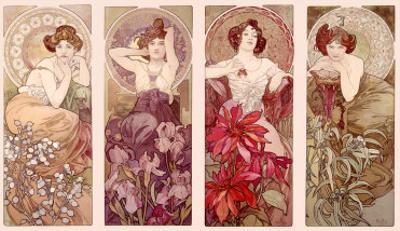 Precious Stones and Flowers by Alphonse Mucha