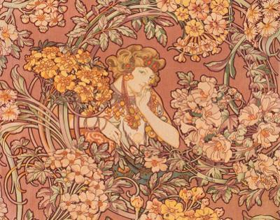 Redhead Among Flowers