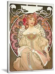 Reverie, 1897 by Alphonse Mucha