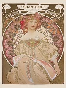 Reverie, c.1897 by Alphonse Mucha