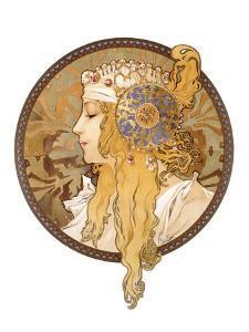 Round Portrait, 1897 by Alphonse Mucha