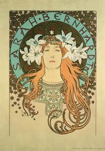 Sarah Bernhardt (1844-1923) La Plume, 1896 by Alphonse Mucha