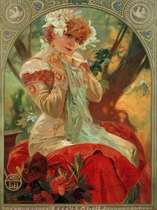 Sarah Bernhardt (1844-1923) Lefevre-Utile, 1903 by Alphonse Mucha