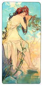 Seasons, 1896 by Alphonse Mucha