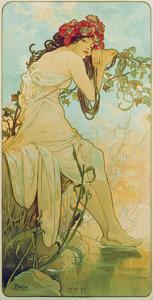 Seasons: Summer, 1896 by Alphonse Mucha