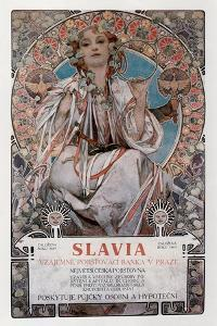 Slavia, 1907 by Alphonse Mucha
