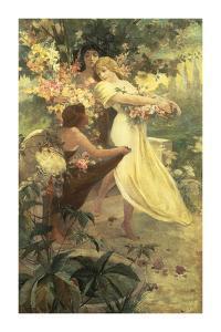 Spirit of Spring by Alphonse Mucha