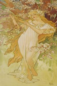 """Spring (From the Series """"Seasons""""), 1896 by Alphonse Mucha"""