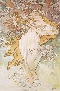 Spring; Printemps, C.1896 by Alphonse Mucha