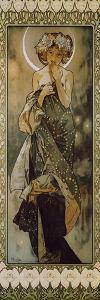 Stars: the Moon, 1902. (Version B) by Alphonse Mucha
