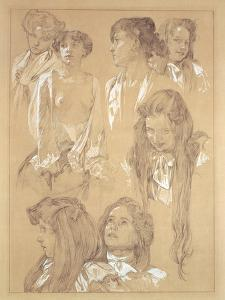 Study for Plate 17 from 'Documents Decoratifs', 1902 by Alphonse Mucha