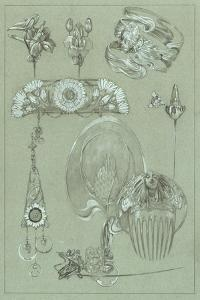 Study for Plate 50 from 'Documents Decoratifs', 1902 by Alphonse Mucha