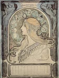 Study for 'Zodiac', 1896 by Alphonse Mucha