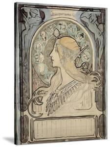Study for 'Zodiac', 1896 by Alphonse Mucha