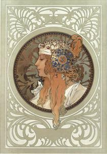 Tetes Byzantines: Blonde, 1897 by Alphonse Mucha