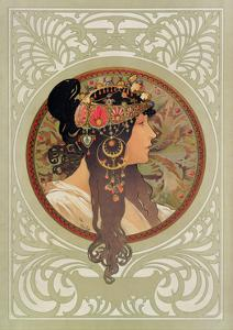 Tetes Byzantines: Brunette, 1897 by Alphonse Mucha