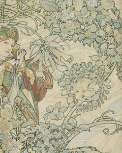 Textile Design by Alphonse Mucha