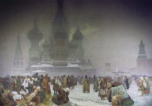 The Abolition of Serfdom in 1861, from the 'slav Epic', 1914 by Alphonse Mucha
