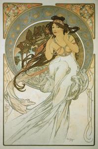 The Arts: La Musique by Alphonse Mucha