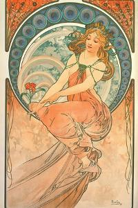 The Arts: Painting, 1898 by Alphonse Mucha