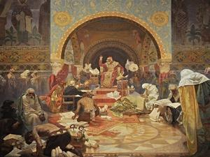 The Bulgarian Tsar Simeon (The Cycle the Slav Epi) by Alphonse Mucha