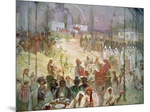 The Coronation of Tsar Stepan Dusan (1308-55) from the 'Slav Epic', 1926 by Alphonse Mucha