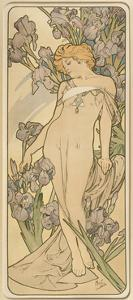 The Flowers: Iris, 1898 by Alphonse Mucha