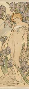 The Flowers: Iris, 1898 by Alphonse Mucha