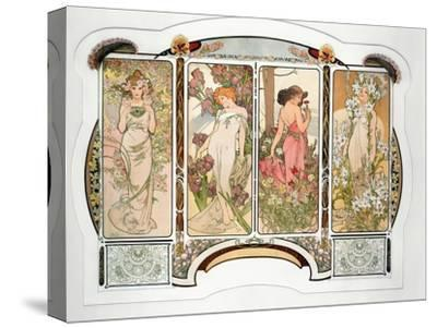The Flowers: Variant 2, 1898 by Alphonse Mucha