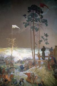 The Meeting at Krizky, from the 'Slav Epic', 1916 by Alphonse Mucha
