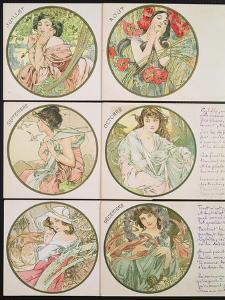 The Months, 1899 by Alphonse Mucha