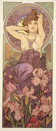 The Precious Stones: Amethyst, 1900 by Alphonse Mucha