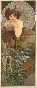 The Precious Stones: Emerald, 1900 by Alphonse Mucha
