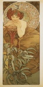 The Precious Stones: L'Emeraude by Alphonse Mucha