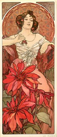The Precious Stones: Ruby, 1900 by Alphonse Mucha